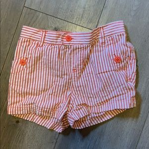 Carter's 6x coral and white stripe shorts